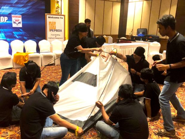 Blind Folded Tent Assembly 02