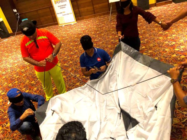 Blind Folded Tent Assembly 04