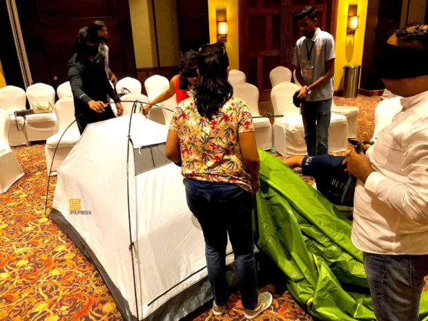 Blind Folded Tent Assembly 05