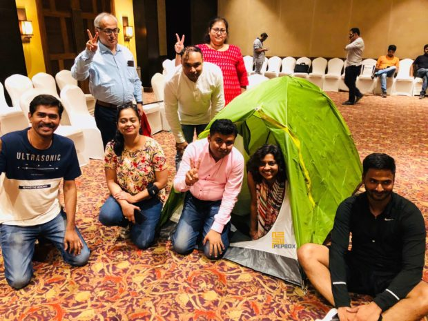 Blind Folded Tent Assembly 07