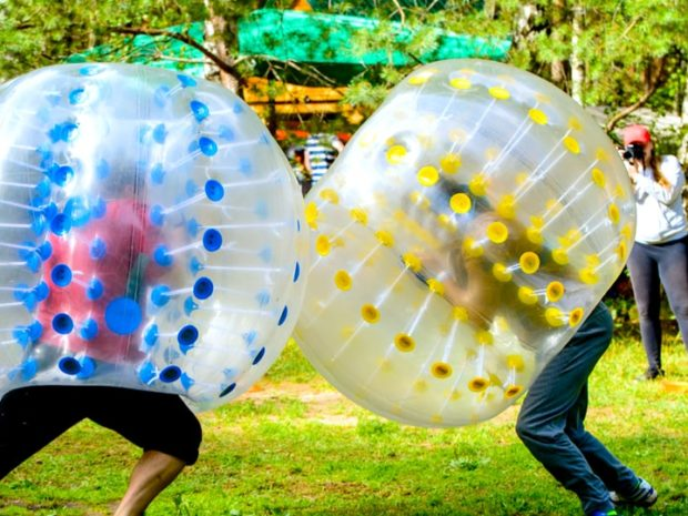 Bubble Zorb Wrestling 1